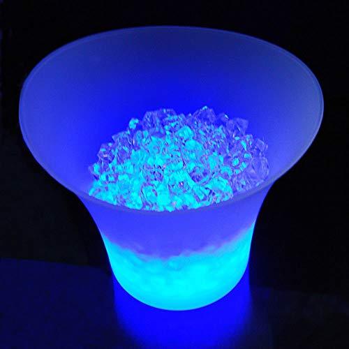 Bunte LED EIS Eimer Große Kapazität Wein Kühler Wasserdicht mit Farben Ändern Champagner Wein Bier Eimer für Party Bar,5L