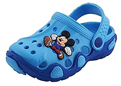 NEW AMERICAN Kids Attractive Clogs (18 EU (Age 6 to 12 Month), Blue)