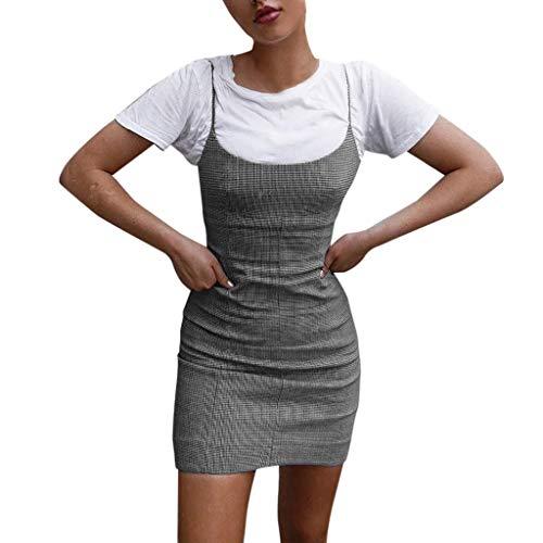 (Produp Frauen Jugend Mode Kleider Sleeveless Plus Size Schlank Solide MiniOff Shouder Bodycon Minikleid Abend Party Kleid)