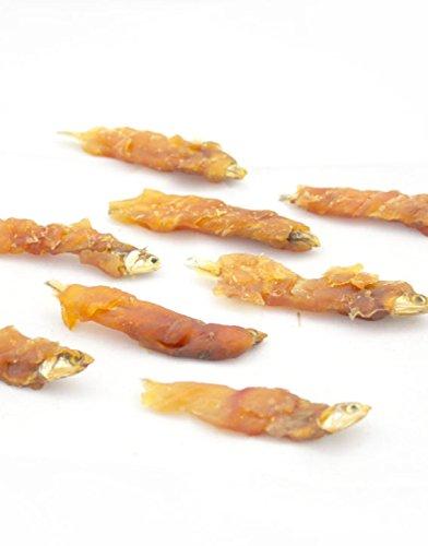 Preisvergleich Produktbild 500g Fisch in Hühnerfleisch eingewickelt Kauleckeri Kaufutter Imbiß-Trainings-Festlichkeits-Lebensmittel (G160)