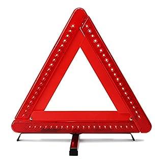 AUTLY Faltbares Warndreieck Sicherheits-Auto/Straßenrand Reflektierendes Notfalldreieck Reflektor Blitzgeber
