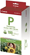 Canon DSC E-P 100 Easy Photo Pack (Fotopapier und Farbbandkassette)