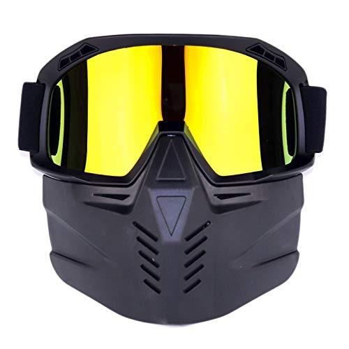 JVSISM Ski Snowboard Schneemobil Brillen Schnee Winter Winddicht Ski Brillen Motocross Sonnenbrillen Mit Gesichtsmaske Nasenschutz