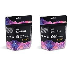 2 Negro Compatibles Cartuchos de Tinta para Canon PG-37 Pixma iP1800, iP1900, iP2500, iP2600, MP140, MP190, MP210, MP220, MP470, MX300, MX310