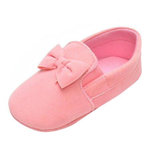 0 Bowknot Prewalker Sola Meses Criança Saingaceâ® 18 Sapatos Sapatos Criança Rosa ~ Elástico Rastejando Banda Macia Bebê PxWEzwnqR6