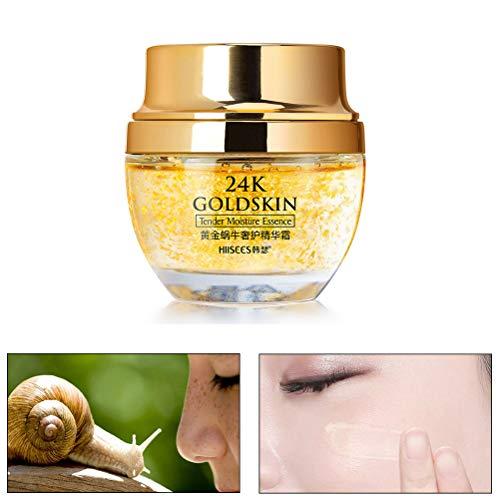 24 Karat Gold Essenz Kollagen Haut Gesicht Feuchtigkeitsspendende Hyaluronsäure Anti-Aging Maske...