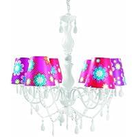 Present Time Silly Chandelier Mix and Match - Lámpara de techo, diseño floral, varios colores