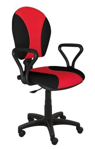 Best For Office Bürostuhl Höhenverstellung Schreibtischstuhl MARKO Modell (SCHWARZ-ROT)