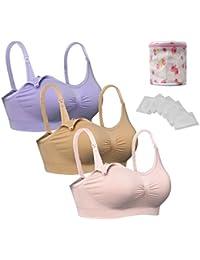 iLoveSIA® Damen Still-BH Schwangerschaft Still BHs ohne Bügel nahtlose,S M L XL