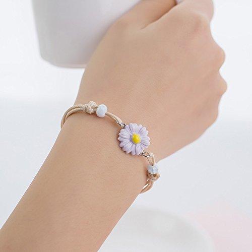 hrcxue hand-woven Bracelet Female Simple Student Sen Girlfriend Birthday Gift Small Fresh Sister Ceramic Jewelry -