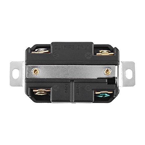 Verriegelung Twist-lock-stecker (Akozon NEMA L14-20R 20A 125V-250V verriegelnde elektrische Stecker für Generator Cord Assembly Generator Steckdose)