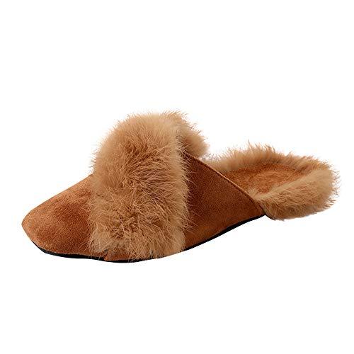 Hausschuhe Unisex Winter Kunstpelz Plüsch Stiefel DOLDOA Home Pantoffeln Slipper