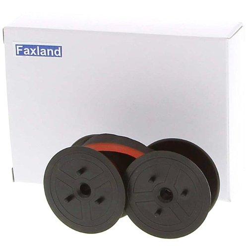 Farbband - schwarz-rot- für Sharp CS 2635 RH als Doppelspule für CS2635RH (Sharp Farbband)