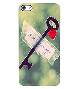 ColourCraft Love Key Design Back Case Cover for APPLE IPHONE 4
