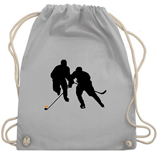 Eishockey - Eishockeyspieler - Unisize - Hellgrau - WM110 - Turnbeutel & Gym Bag