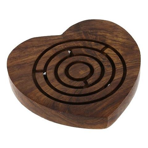 Labyrinthe à billes coeur - Jouet en bois - idée