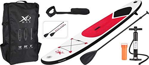 XQ Max Professional Aquamarina Planche de Surf rames Sac à Dos Pompe à air Package kit Ensemble - Rouge