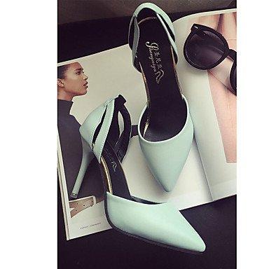 Talons Femme Spring Comfort PU Extérieur Stiletto Heel Noir Bleu Rose Marcher Blue