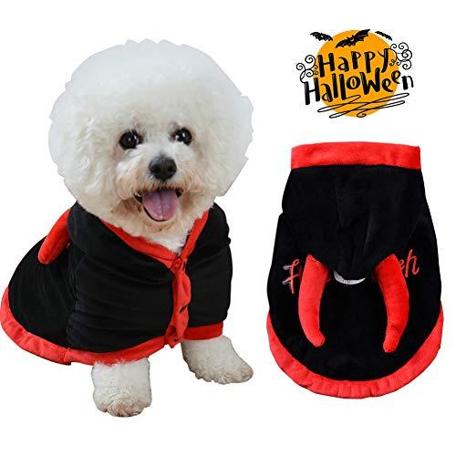 Hunde Ohr Kostüm Muster - LCWYP Haustier Halloween Halloween-Haustier-Hundemantel-Haustier-Lustiger Mantel-Kostüm-Haustier-Hundepartei Kleidet Welpen-Nettes Ohr-Dekor-Produkt