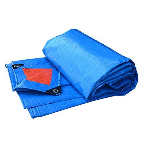 Orange 8x10 Bereich (QIANGDA Plane Blatt Wasserdicht Polyethylen Auto Sonnenschirm Tuch Regenfest, -160g / M², Dicke 0,18mm, Blau + Orange, 10 Größen Optional ( größe : 3 x 4m ))