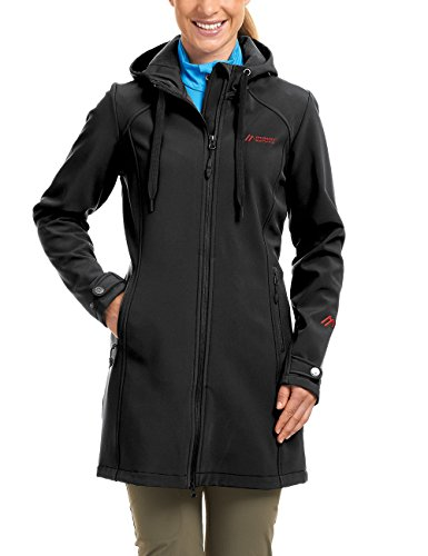 Damen Winter Billig Mäntel (maier sports Damen Softshellmantel Mim, black, 40, 260758)