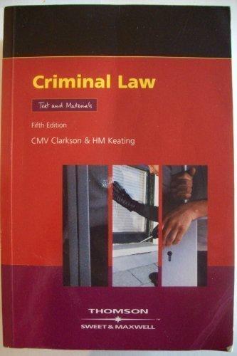 Criminal Law: Texts and Materials