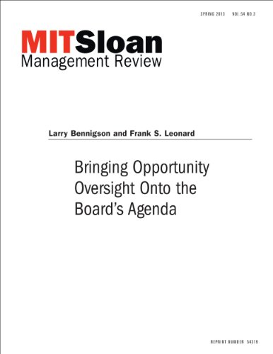 Bringing Opportunity Oversight Onto the Board's Agenda -- Journal Article (English Edition)
