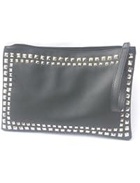 DIETZ Abendtasche mit Nieten schwarz 35x23x3cm Clutch