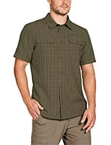 Jack Wolfskin Herren Hemd Thompson Shirt Men, Burnt Olive Checks, S, 1401041-7531002