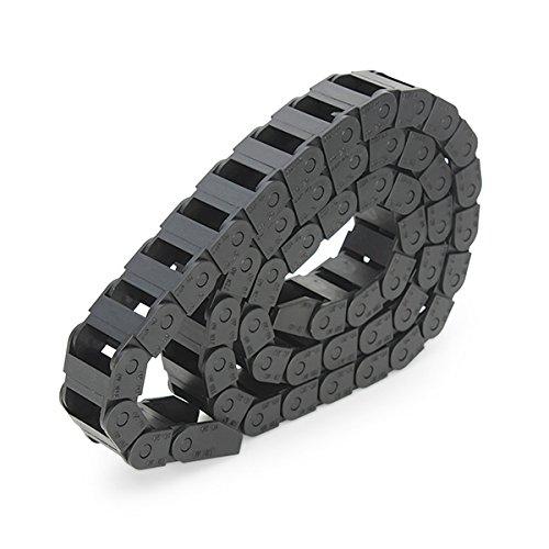 [ JBS basics ] Energiekette Schleppkette Kabelführung [ 10x10 / 10x20 / 15x30 / 15x40 ] R28 CNC 3D Drucker [ 100 cm / 1 Meter ] Plastik Drag Chain incl. Endstücke 10mm 15mm 30mm 45mm (10x20 mm)