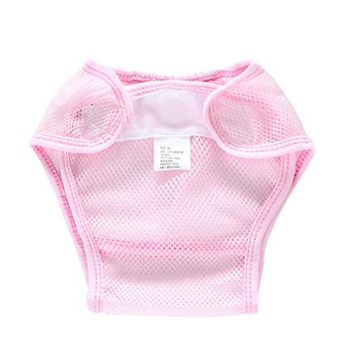 Masterein Waschbare Sommer-Baby-Tuch-Windel-Abdeckungs-Ineinander Greifen dünne Breathable Neugeborene Baby-Windeln Wiederverwendbare Tuch-Windeln Rosa 90