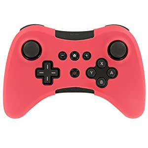 OSTENT Soft-Silikon-Hülle Skin-Hülle kompatibel für Nintendo Wii U Wireless Controller – Farbe rot