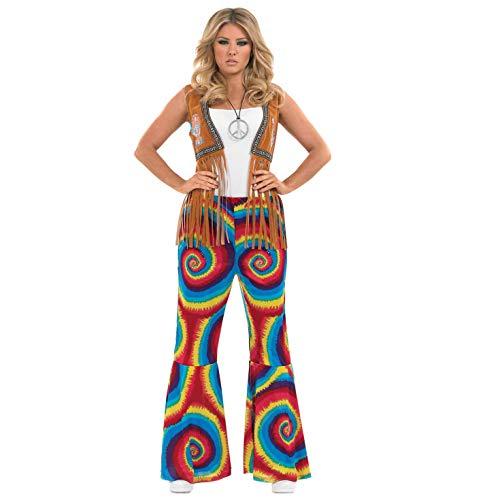 Jahrzehnt Kostüm - Fun Shack Damen Costume Kostüm Womens Rainbow Swirl Flares, XL