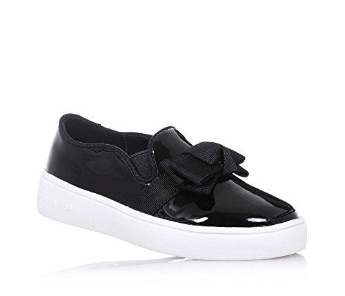 MICHAEL KORS - Slip on nera in vernice, dallo stile unico e sempre alla moda, con fiocco decorativo frontale, inserti laterali elasticizzati, Bambina, Ragazza-29