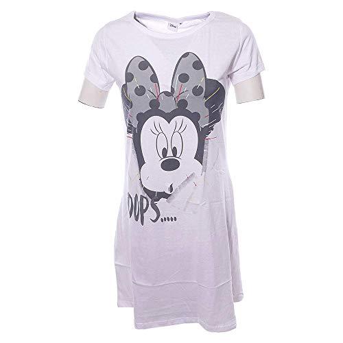 Nachthemd Damen lang Disney Minnie Mouse Schlafhemd 100{63c39a15383254a4a1838e04a58b005e947ab565bd46b3aad5f0067c09c7de75} Baumwolle T-Shirt weiß (M)