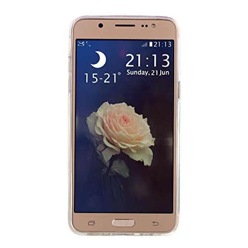 Hülle Galaxy J5 2016, Asnlove Neue Modelle Crystal Case Handy Schutzhülle TPU Silikon Transparent Schutz Handy Hülle Case Tasche Etui Bumper für Samsung Galaxy J510 , Diagonal-Spitze Color-2