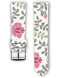100% diseño de algodón con piel trasera: Kendall–Reloj de repuesto correa para reloj para Samsung Gear S3–Apple reloj inteligente–relojes–conectado relojes–relojes convencionales. Fabricado en Francia