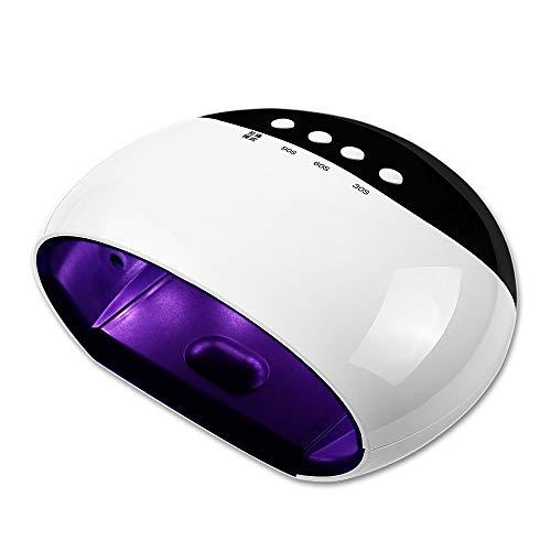 XUDAN Uv Lampe für gelngel,Nagellack-Blitz-Maschine Nagellack-Kleber-Lampe 45W intelligente LCD-Induktion führte Hellen Trockner-schnell trocknendes Werkzeug / 15 helle Korne - Weiß
