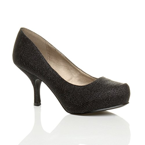 womens-ladies-low-mid-heel-pumps-concealed-platform-work-court-shoes-size-7-40