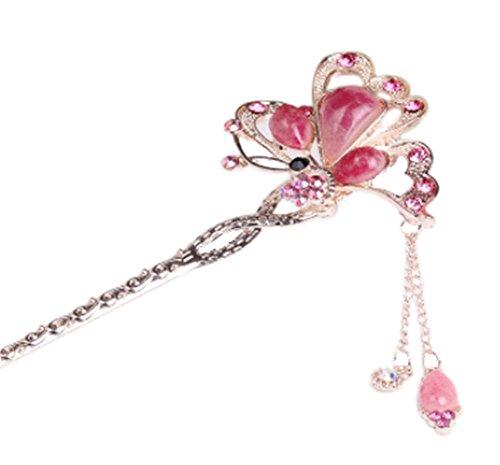 Nuptiale Coiffe Ornements cheveux épingle classique main, gemme rose
