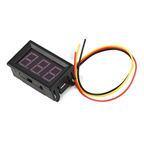 0-100 V 0,56in 3 Draht LED Digitalanzeige Voltmeter Elektrische Spannung Meter Volt Tester für Auto Batterie Auto Motorrad - schwarz