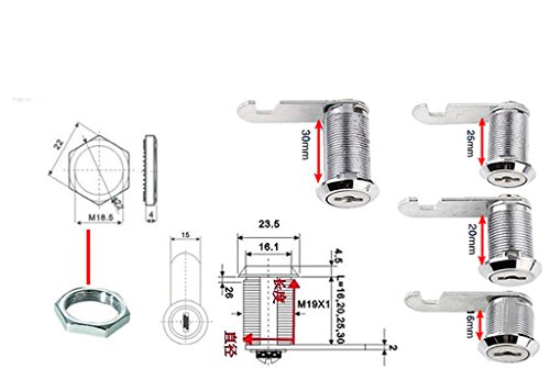 Neue Universal-Sicherer Nocken Zylinderschlösser Werkzeugkasten Aktenschrank Schreibtischschublade