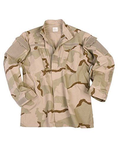 Mil-Tec US ACU Herren Feldjacke RipStop (3 Farben Desert/XL) (Army Desert Uniform)