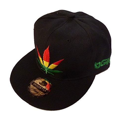 Basecap Hip Hop Weed Black 58