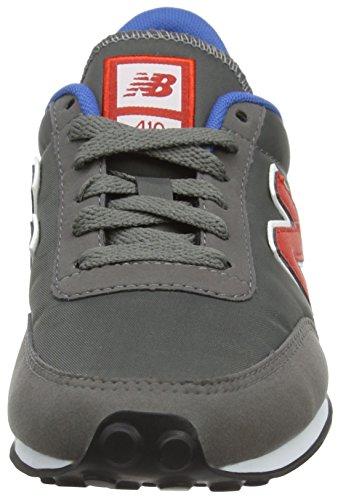 New Balance Unisex-Erwachsene U410v1 Low-Top Grau (Grey/Red/Blue)