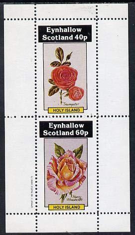Eynhallow 1982 Roses (Trumpeter & Harry Wheatcroft) perf set of 2 values (40p & 60p) u/m FLOWERS ROSES JandRStamps Wheatcroft Rosen