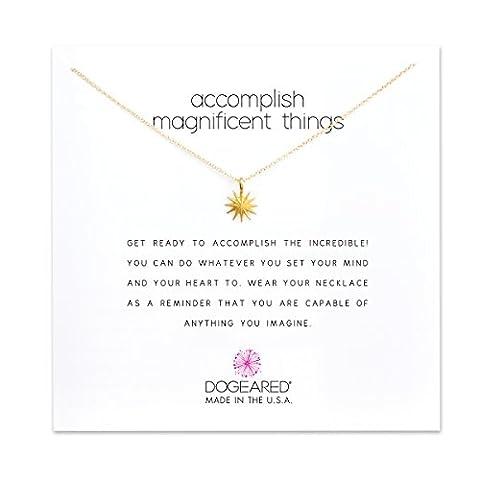 dogeared Collier avec pendentif Magnificent Things Collier en or trempé