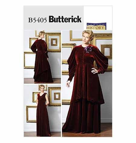 Edwardian Muster Kostüm - Butterick ungeschliffen & Gespräche b5405Edwardian Era Kostüm Schnittmuster Damenkleider Größe: AA (6-44-12)