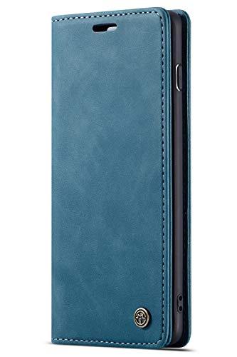 Flip Aus Leder (Handyhülle, Premium Leder Flip Schutzhülle Schlanke Brieftasche Hülle Flip Case Handytasche Lederhülle mit Kartenfach Etui Tasche Cover für Samsung Galaxy S10, S10 Plus, S10e)