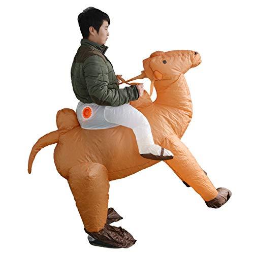 fblasbare Kostüme für Erwachsene Aufsitzen Lama Tier Cosplay Anzüge Halloween Karneval Party Fasching Novel Toys Show ()